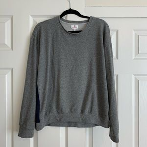 Sundry gray sweatshirt with stripes on side.